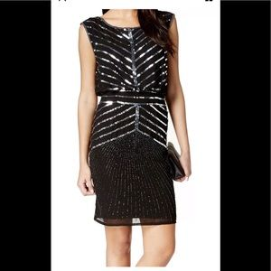 Adrianna papell  sequins black dress new with tag